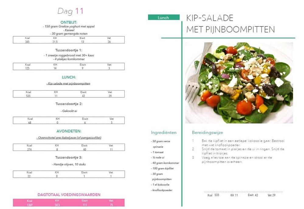 menu voorbeeld