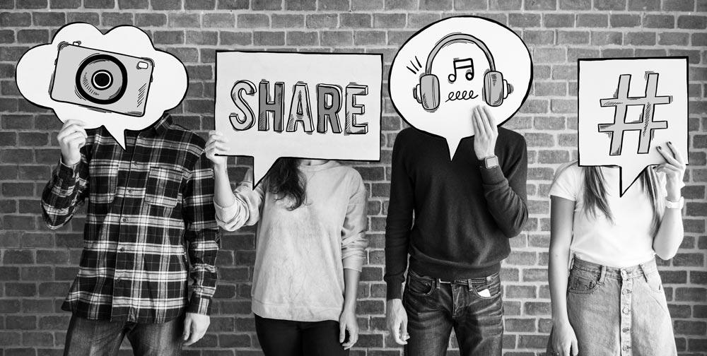 social media delen