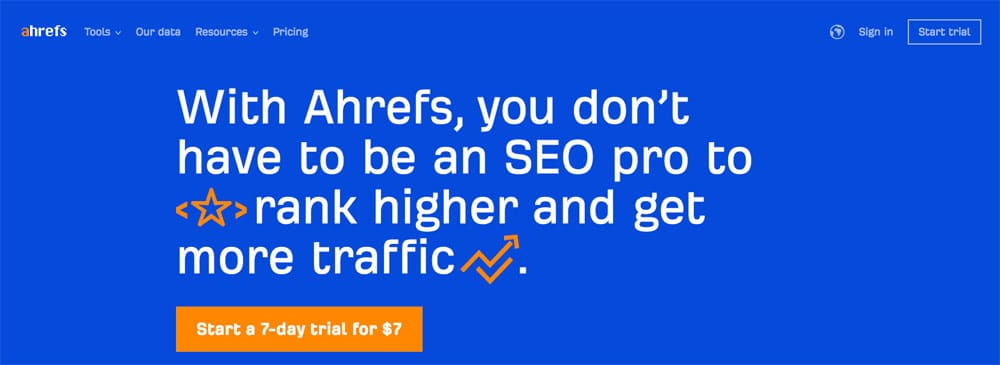 ahrefs seo software